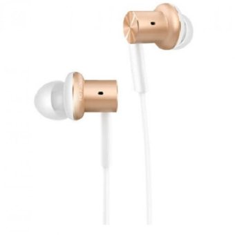 XiaoMi Mi IV Hybrid Dual Drivers Earphones In-Ear Headphones - Gold/White