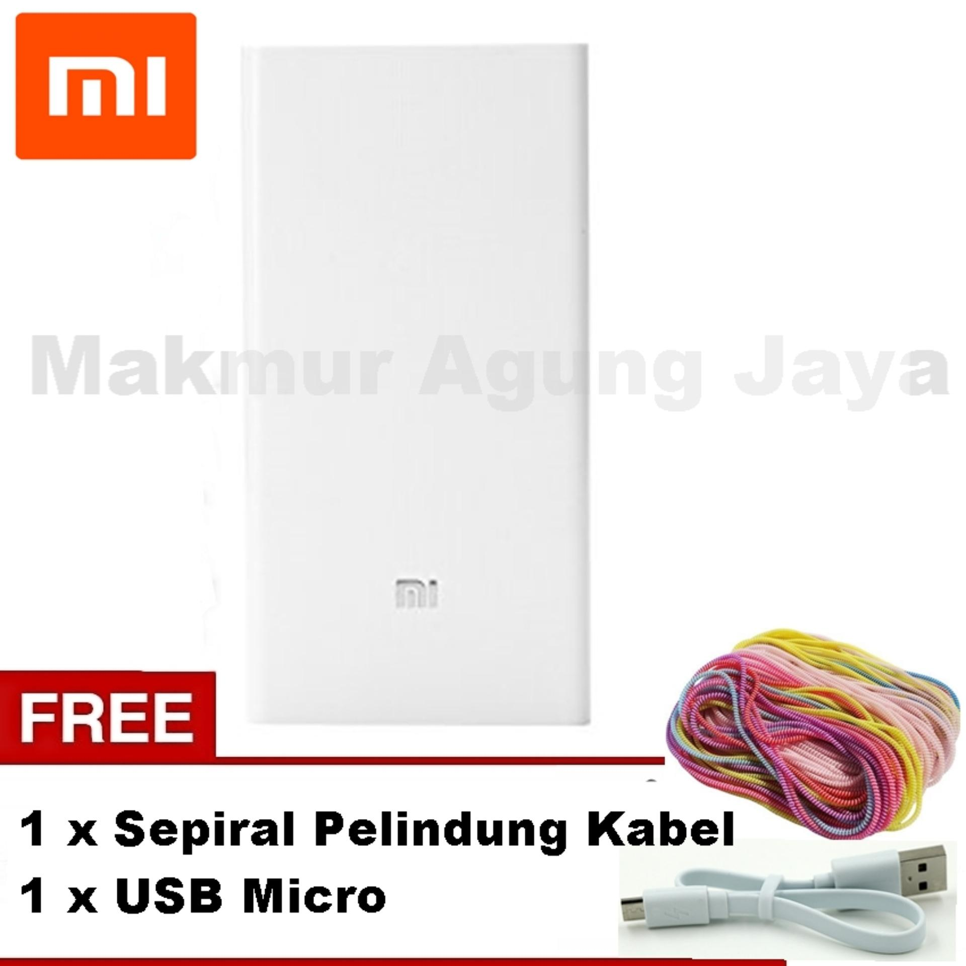 Belanja Terbaik Xiaomi Mi Power Bank 10000mah Slim Original White Powerbank 10000 Mah Putih Silver Free Usb Type