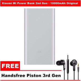 Update Harga Xiaomi Mi Power Bank 2 – 10000mAh Original Powerbank (Silver) + FREE Handsfree Piston 3rd Gen IDR249,000.00  di Lazada ID