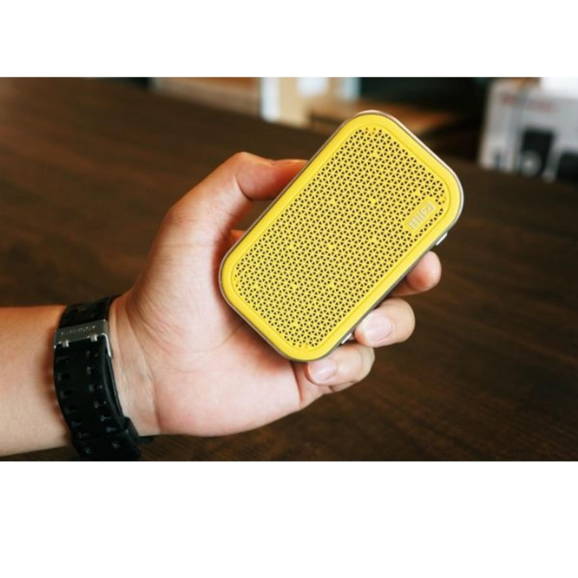 Terbaik Murah Xiaomi Mifa M1 Bluetooth Portable Speaker Cube With Micro Sd Kuning