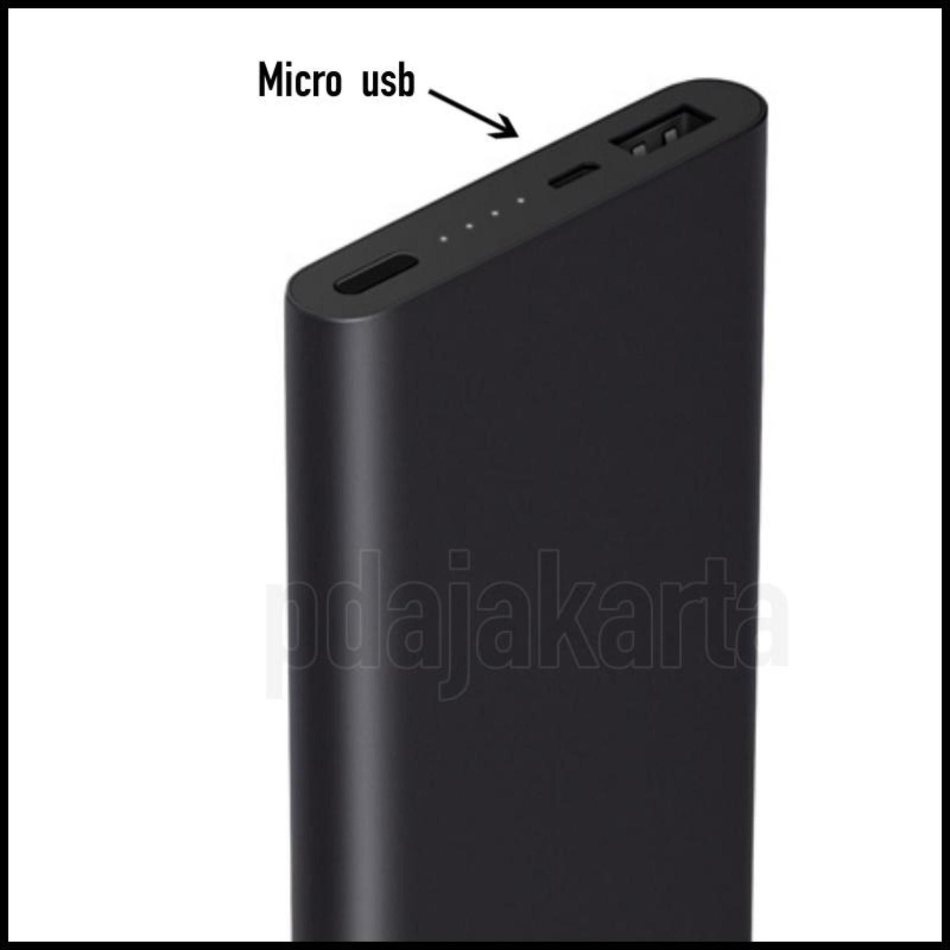 Eshop Checker Xiaomi Original Mi Powerbank 10000 Mah Slim 2 Fast Charging Black