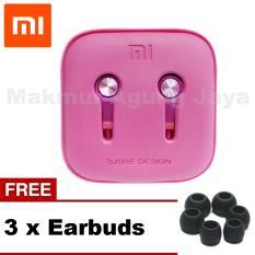 Xiaomi PISTON 3 Earphone Headset Handsfree / Headset Gen In EarStereo - Platinum Pink/Merah