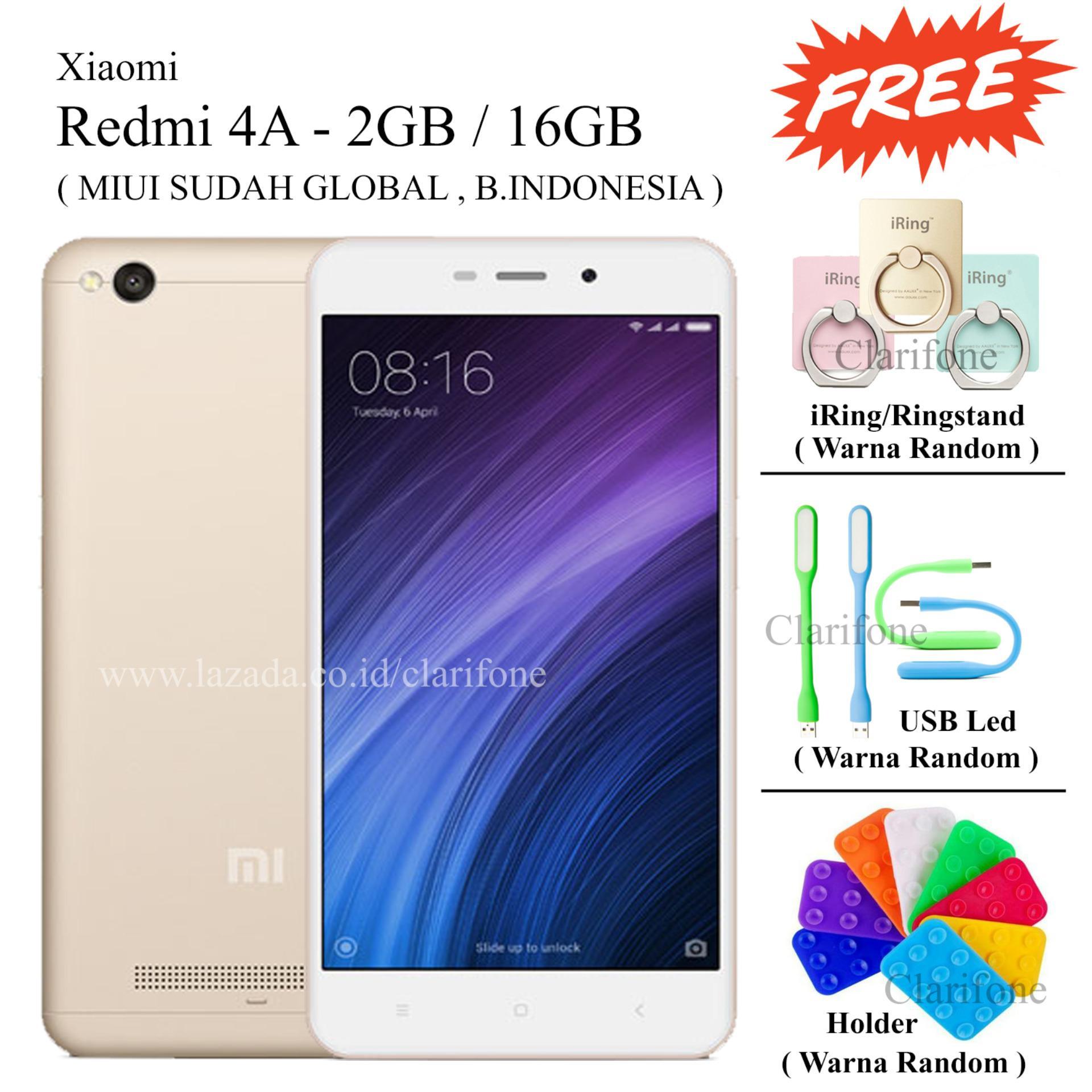 Xiaomi Redmi 4a 16gb Garansi Distributor 1 Tahun Spec Dan Daftar 2 Prime Ram 2gb Rom 16 Gb Free 3
