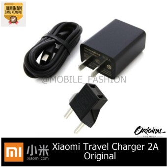 Xiaomi Travel Charger 2A Fast Charge Original - Hitam