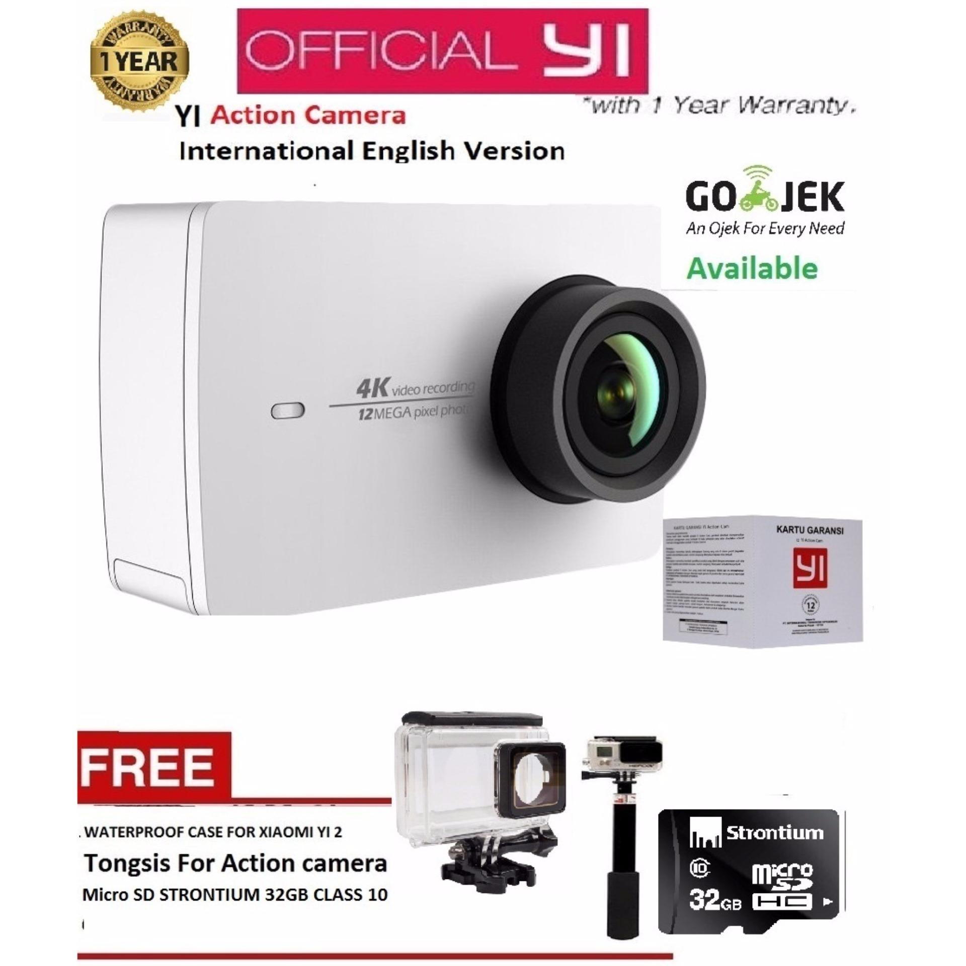 ... Xiaomi Yi 2nd Gen Action Camera With 4k - Putih - International Version + Gratis Tongsis ...