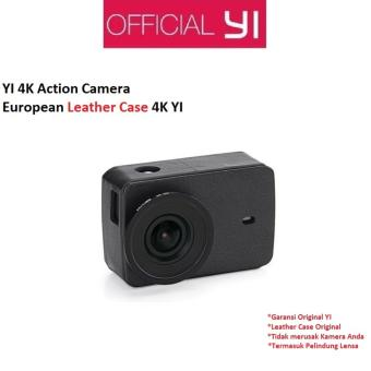 Xiaomi Yi 4K Action Camera Protective Lens + Leather Case - Hitam
