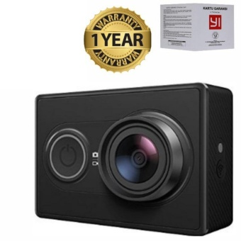 Xiaomi YI INTERNATIONAL VERSION-16MP-HITAM-GRATIS WaterProof Case-Tongsis-MicroSD 16GB