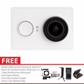 Xiaomi Yi International Version Paket Combo 3-Way Extreme Action Camera - Putih