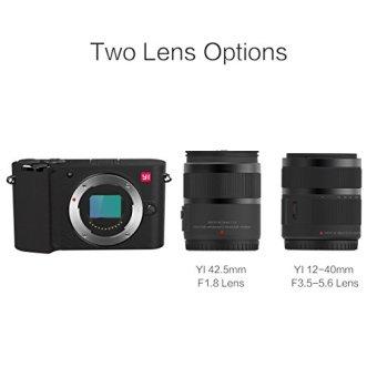 Xiaomi YI M1 Mirrorless Digital Camera with 12-40mm F3.5-5.6 Lens / 42.5mm F1.8 Lens Storm - Black