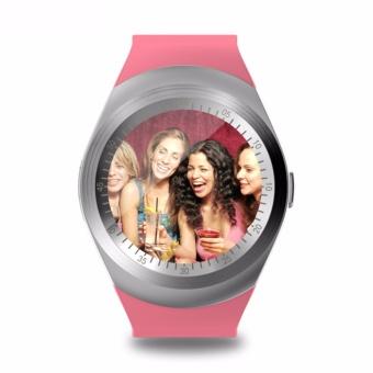 Y1 bulat Bluetooth 3.0 dpt dipakai Smart watch pria Wanita Smartwatch bisnis klasik untuk Android - 3