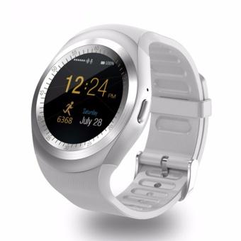 Y1 bulat Bluetooth 3.0 dpt dipakai Smart watch pria Wanita Smartwatch bisnis klasik untuk Android - 4