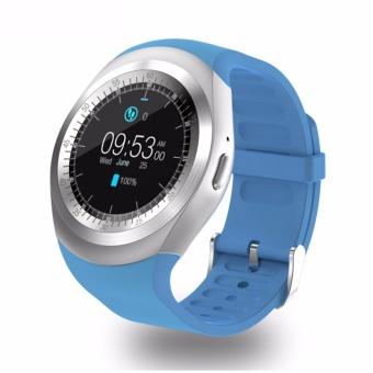 Y1 bulat Bluetooth 3.0 dpt dipakai Smart watch pria Wanita Smartwatch bisnis klasik untuk Android - 2