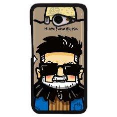 Y&M Cartoon Glasses Man Phone Case for Xiaomi Mi 2/2S (Brown)
