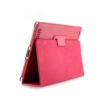 YBC Magnetic Flip Litchi Leather Case Smart Stand Holder For Apple ipad2 3 4 - intl