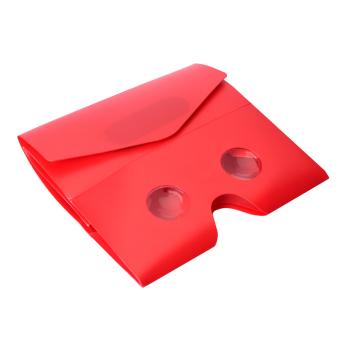 Yika Google Cardboard DIY 3D VR Virtual Reality Glasses for iPhoneSmartphone (Red) (Intl) (Intl)