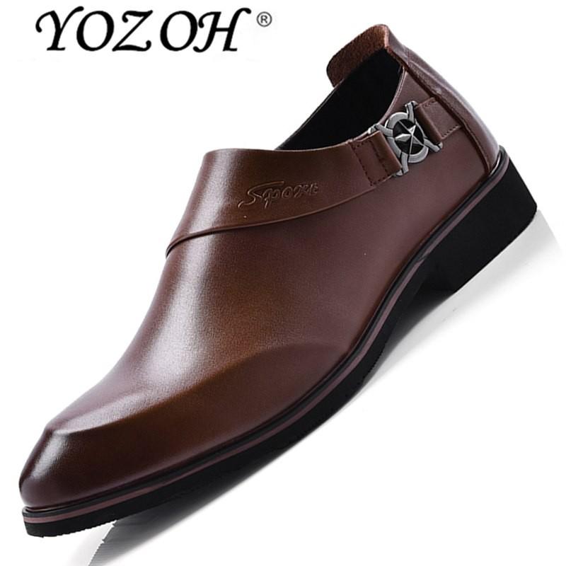 Yozoh Seksi Penjualan Sepatu Lembut Pointed Ujung Kaki Klasik Bisnis Modis Oxford Sepatu untuk Pria Loafer