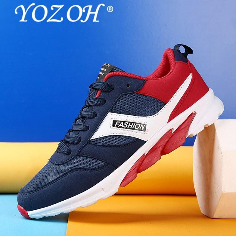 Yozoh Pria Menjalankan Sepatu Olahraga Ringan Sepatu Musim Panas Bernapas  Jogging Sneakers untuk Pria Luar Ruangan 30863a7d22