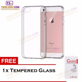 Zenblade Anti Shock Anti Crack Softcase Casing for iPhone 5/5s + Free Tempered Glass