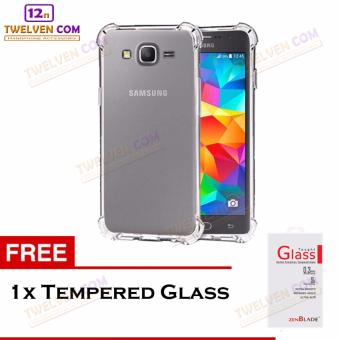 Zenblade Anti Shock Anti Crack Softcase Casing for Samsung Galaxy Grand Prime G530 + Free Tempered