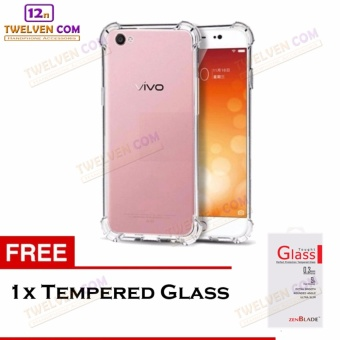 Zenblade Anti Shock Anti Crack Softcase Casing for Vivo Y21 / Y25 + Free Tempered Glass