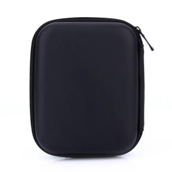 Zip ke USB EVA Case bawaan tas kantong untuk 6,35 cm HDD harddisk cakram PC jk GPS (hitam) - International - 5