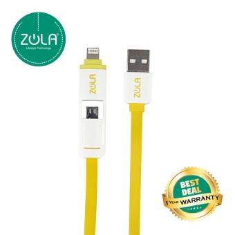 Zola 2 in 1 USB Data + Charge Cable - Kuning