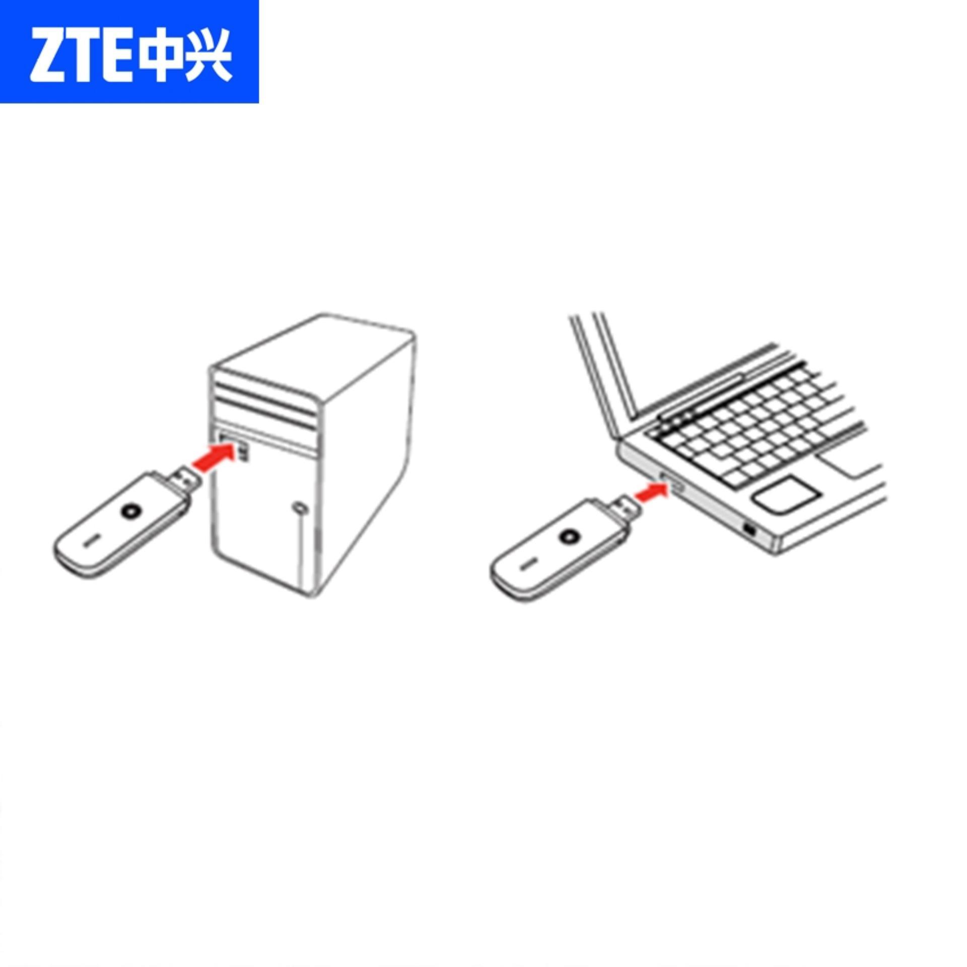 ZTE MF190 USB Modem 7.2Mbps 2 In 1 - Black/White + Free Kartu