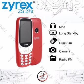 ZYREX ZS 278 handphone dual sim kamera mirip nokia 3310 layar 2.4 inch