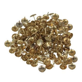 1.1X1.6 Cm Besi Antik Daisy Paku Lapis Paku Payung Set Kancing 100 Kuning