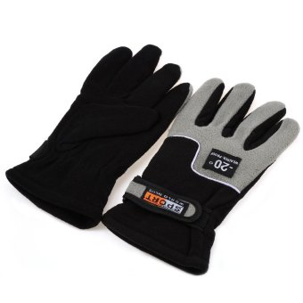 1 Pair Full Finger Warm Gloves for Outdoor Sports ONE SIZE InkPainting--TC