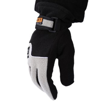 1 Pair Full Finger Warm Gloves for Outdoor Sports ONE SIZE InkPainting--TC - 2