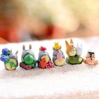 12 buah/set tetanggaku Totoro Mini gambar lumut dibetulkan hadiah mainan multi alam mikro - 5