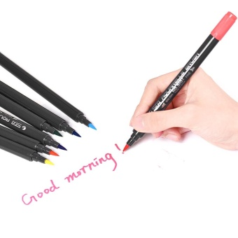 12 Colors/ Set Marker Marking Pen Twin Tip Brush Sketch Pens Water Based Ink for Graphic Manga Drawing Designing - intl