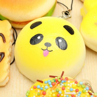 The New Price Of 10pcs Random Kawaii Mini Soft Squishy Foods Source · 12x Jumbo Medium Mini Squishy Soft Toast Panda Bread Cake Phone Strap Keychain