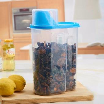 16 * 9 * 15cm Food storage tank plastic kitchen sealed rice storagebox miscellaneous grains dry