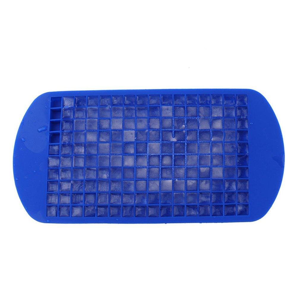 MARCO TATAKAN RODA GAS 160 Grids DIY Kreatif Kecil Cetakan Es Batu Square Shape Silicone Ice Tray Fruit Ice Cube