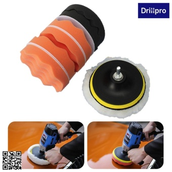 16pcs 4 Inch Buffing Pad Kit Compound-Polishing-Auto Car Detail+Drill Adapter-M10 - intl ...