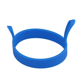 1pc Round Silicone Fried Egg Tool Pancake Mould Ring Poacher (Blue) - intl