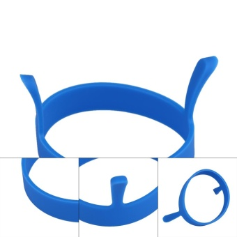 1pc Round Silicone Fried Egg Tool Pancake Mould Ring Poacher (Blue) - intl - 3