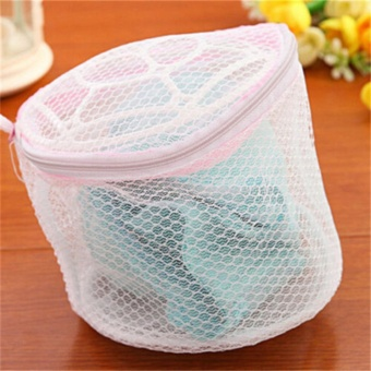 1x Laundry mesh Zip Bag Bra Lingerie Wash Bags Clothes Washing Net Bag For Home Using Underwear Washing - intl