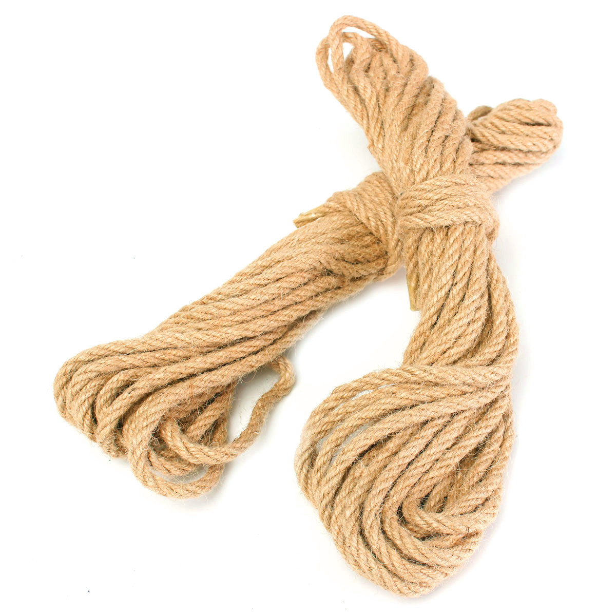 2 buah 10 m memutar kain goni Jute benang tali rami tali sisal .