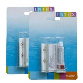 [2 pcs] INTEX Lem Repair Kit Penambal Kebocoran Kasur Angin / Kolam Pompa /