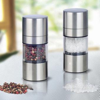 2 Stainless Steel manual gilingan merica garam penggiling bumbumenggiling rumah alat-alat dapur untuk memasak