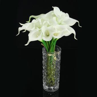 20 Tangkai Bunga Sutra Calla Lily Bahan Lateks For Bunga Dekorasi Pernikahan-Internasional