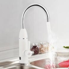 220V Kitchen Bathroom Water Heating Faucet Tap Digital Temp Display Side Water Inlet AU Plug - intl