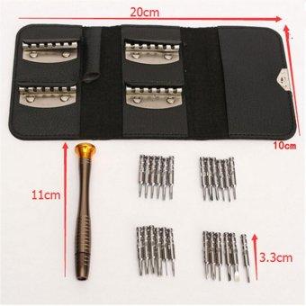 25 in 1 Screwdriver Wallet Set Multi Repair Screwdrivers Tools KitFits for iPhone PC Laptop - intl - 2