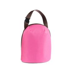2.8L Piknik Tas Tas Makan Siang Portabel Oxford Tahan Air Panas Melestarikan Aluminium Foil Pink