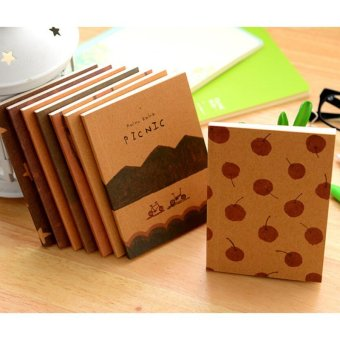 2Pcs Cute Retro Handmade Journal Memo Dream Notebook Paper NotepadBlank Pocket Diary -