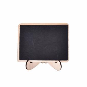 2pcs Mini Wooden Clip Blackboard Message Board Wedding Party LollyBuffet Table - intl