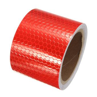 ... 3 m Putih/Merah Peringatan Reflektif Stiker Film Strip Roll Pita Konspirasi - 3 ...